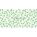 3D PVC panel Mosaic Green Coffee
